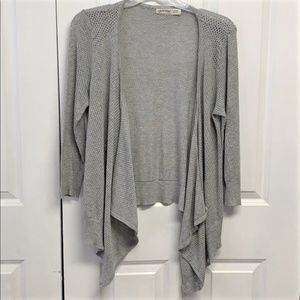 Faded Glory Cardigan Sweater Size L Gray